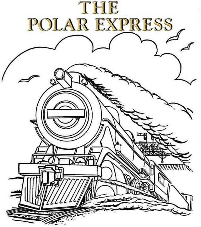 The Polar Express Train Halaman Mewarnai