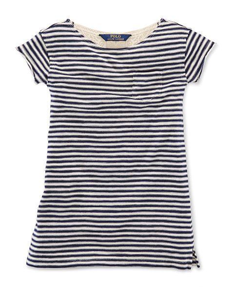Striped Cotton Tee Dress - Girls 2-6X Dresses & Skirts - RalphLauren.com