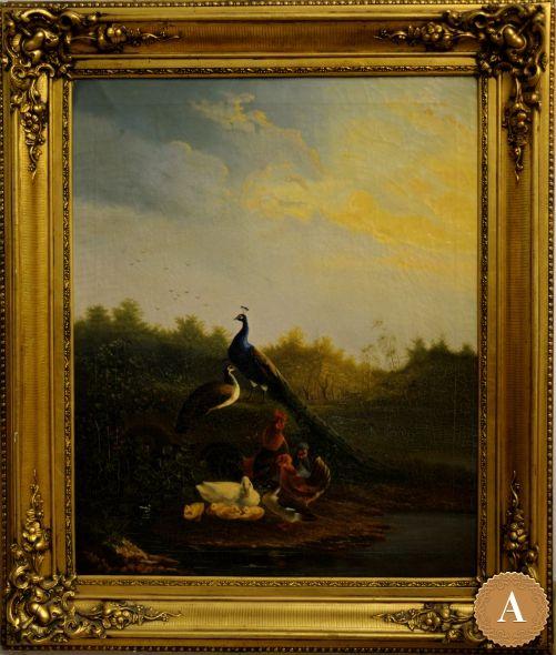 Картина «Пейзаж с птицами»