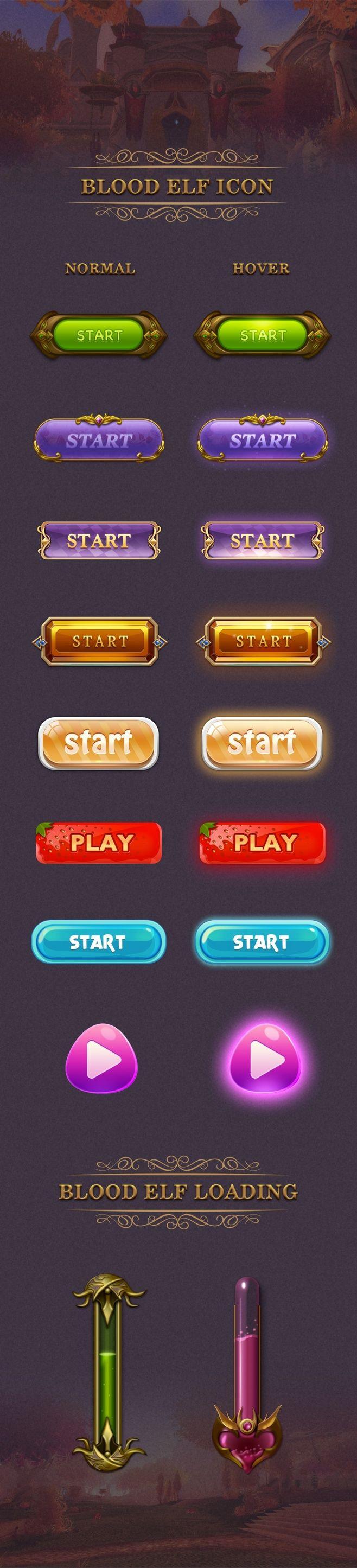 游戏UI按钮&loading|游戏UI|...