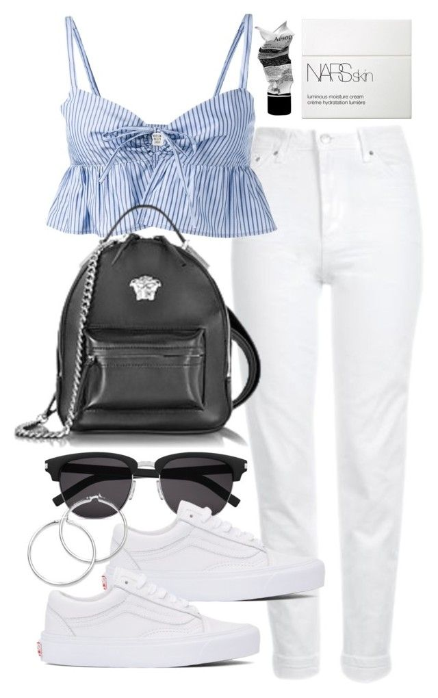 """""""Untitled #21473"""" by florencia95 ❤ liked on Polyvore featuring Topshop, Maryam Nassir Zadeh, Yves Saint Laurent, Vans, Versace, NARS Cosmetics and Aesop"""