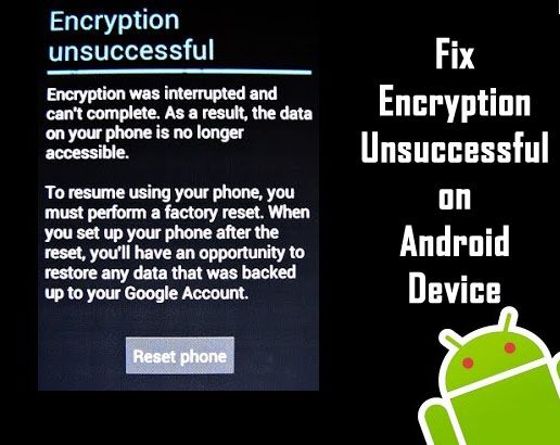 How to #Fix Encryption Unsuccessful on #Android Device. Solution 1 - Fixing #Encryption Unsuccessful Error by #FactoryReset. Solution 2 - Fixing Encryption Unsuccessful Error by Flashing a New #ROM.