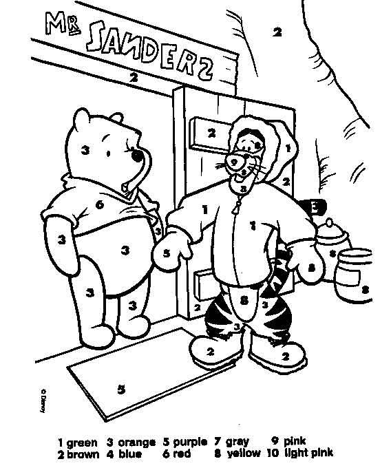 And Print This Tigger Pooh Color By Numbers Get Your Free Pages At All Kids Network