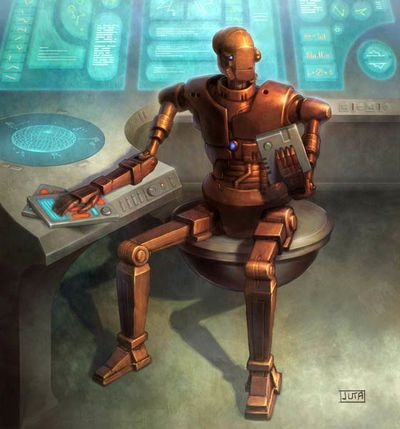 8t88, droid criminal kingpin aboard the Shadowport, casino owner and money launderer