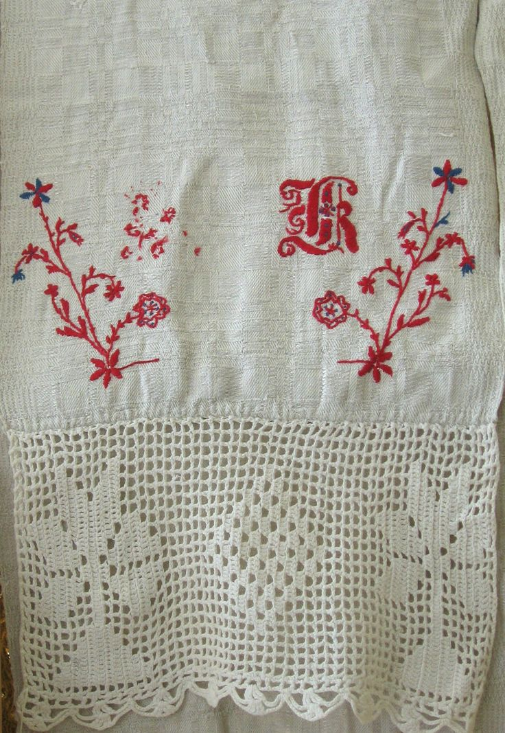 Traditional Latvian textiles #HandicraftLeader . Crochet & embroidery from Skrunda Museum.
