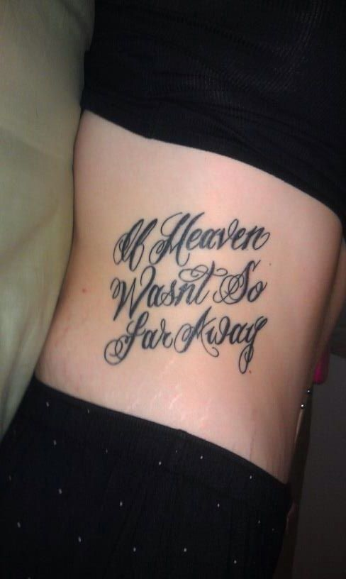 if heaven wasn 39 t so far away tattoo for my aunt and mama. Black Bedroom Furniture Sets. Home Design Ideas