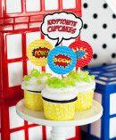 kryptonite cupcakes