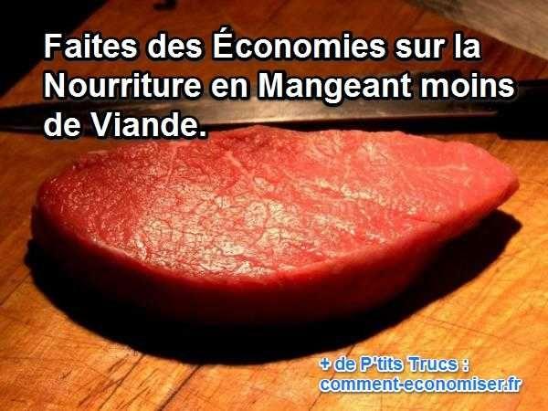 Manger moins de viande est un bon moyen d'alléger vos notes de courses, tout en faisant du bien à votre corps.  Découvrez l'astuce ici : http://www.comment-economiser.fr/faire-des-economies-sur-la-nourriture-moins-viande.html?utm_content=buffer1e2a6&utm_medium=social&utm_source=pinterest.com&utm_campaign=buffer