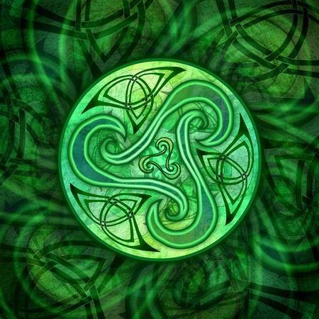 Celtic spiral triskele