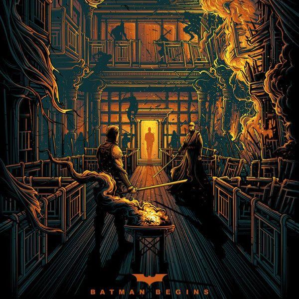 Batman Begins - 2017 Dan Mumford poster Death is not Considerate