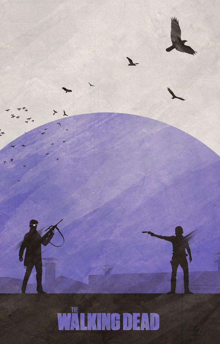 "Temporadas de ""The Walking Dead"" inspira série de pôsteres"
