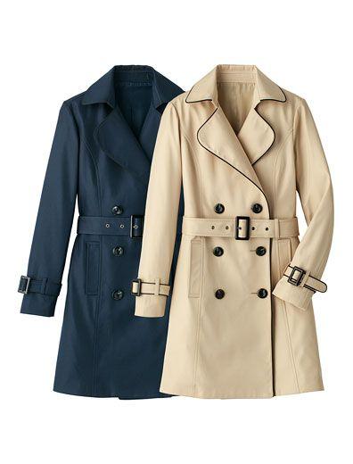 パイピングトレンチコート | 女性ファッション通販サイトFABIA(ファビア)