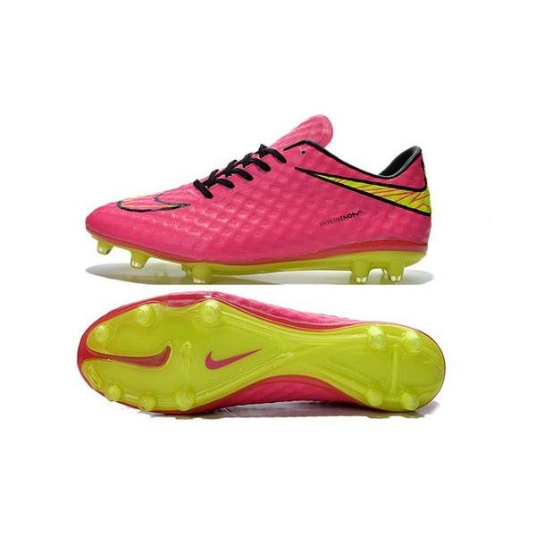 2015 Nike HyperVenom Phantom FG Football Shoes Pink Black Volt