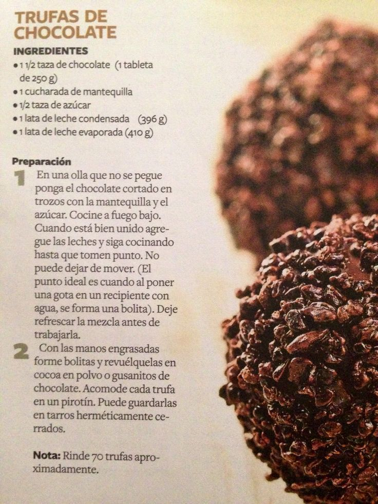 Trufas de chocolate | https://lomejordelaweb.es/
