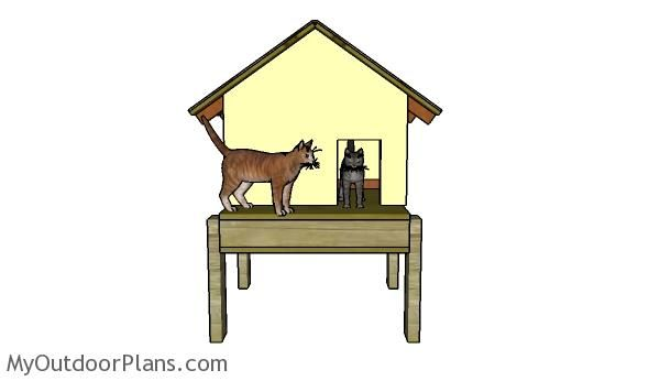 How to build an insulated cat house