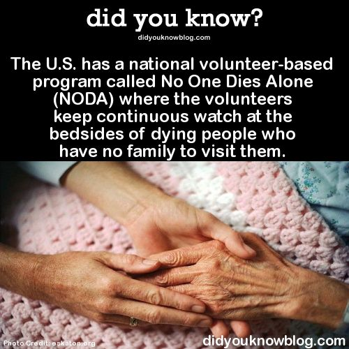 The U.S. has a national volunteer-based program called No One Dies Alone.