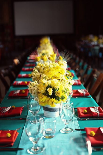 Image Result For Yellow Blue And Red Wedding Ideas
