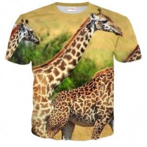 ŻYRAFY Koszulka T-Shirt Full Print 3D