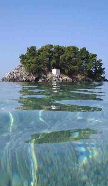 Island of Mary (Panagia) - Parga, Epirus, Greece (via Pinterest)