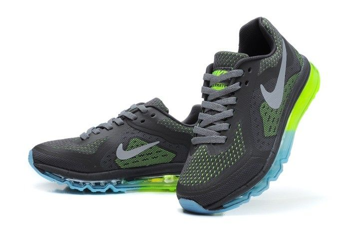 Air Max Nike Shoes for Kids 2014 Online Sale Grey Green | $80.21
