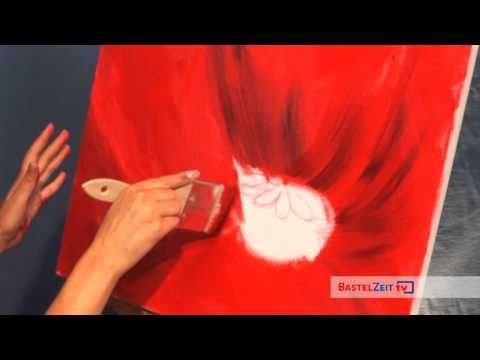 Acrylmalen: Malen lernen, Anleitung zur Mohnblume/ Acrylic painting Tutorial Demo, floral painting - YouTube