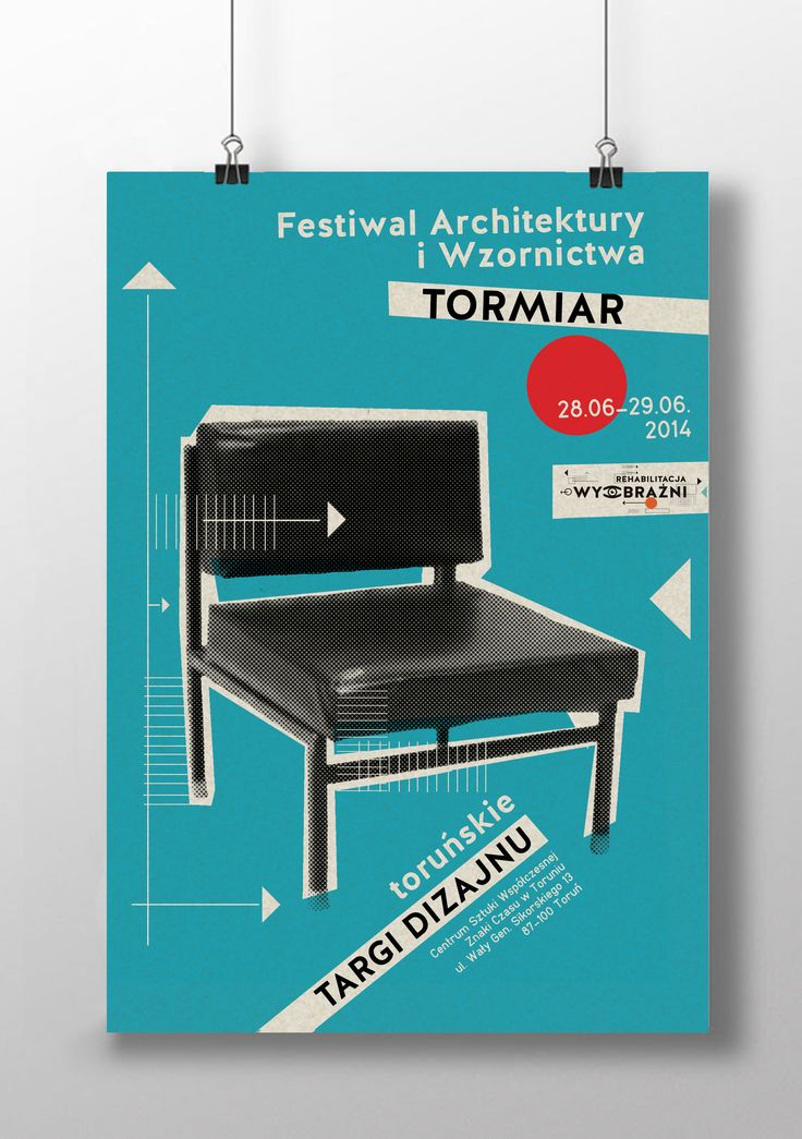 Poster, TORMIAR. Festiwal of Architecture and Design Visual Identity by Karolina Ryfka