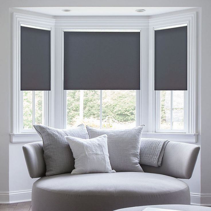Deluxe Room Darkening Fabric Roller Shades image 1