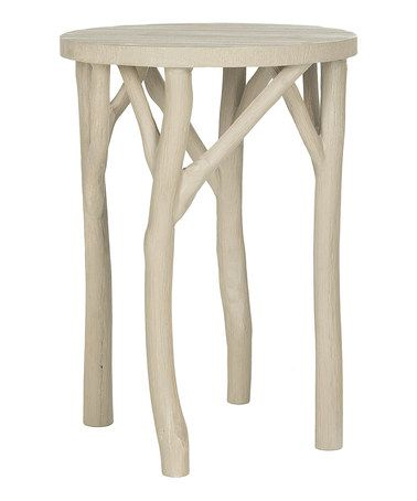 Love this Pearl Taupe Harper Round End Table on #zulily! #zulilyfinds