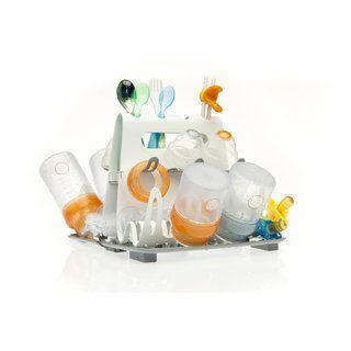 Spécialement conçu pour égoutter les accessoires d'alimentation de bébé, il a une capacité de stockage de 16 biberons + ses accessoires.