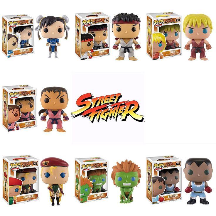 Funko Pop!: Street Fighter OGs Ryu, Ken, Chun-Li, Cammy, Blanka, Balrog, Dan! Vinyl Figures