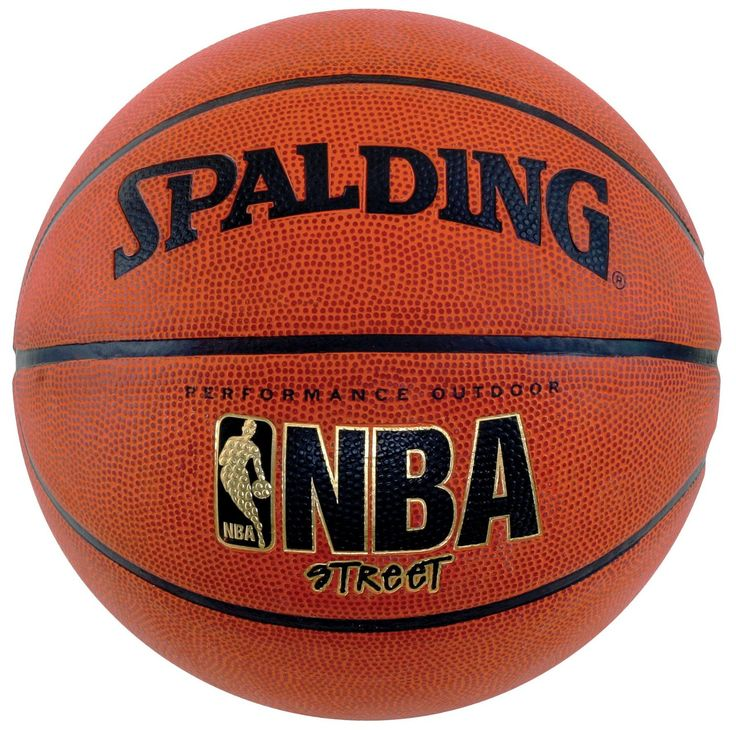"""Official NBA Street Basketball, Size 6 (28.5"""") Performance Outdoor Cover Wide Channel Design for Incredible Grip & Feel Designed for Competitive Street Play"""