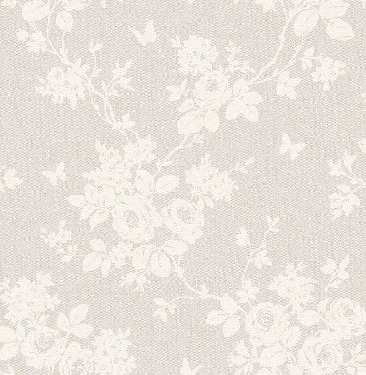 Tapete Floral graubeige Rasch Textil Maison Chic 022025