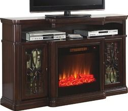 "60"" Walnut Finish Electric Fireplace from Big Lots $349.99 (30% Off) -"
