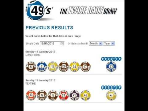 Jan 18, 2015 Irish Lottery Results for 49's 1st Draw and 2nd Dra - (More info on: https://1-W-W.COM/lottery/jan-18-2015-irish-lottery-results-for-49s-1st-draw-and-2nd-dra/)