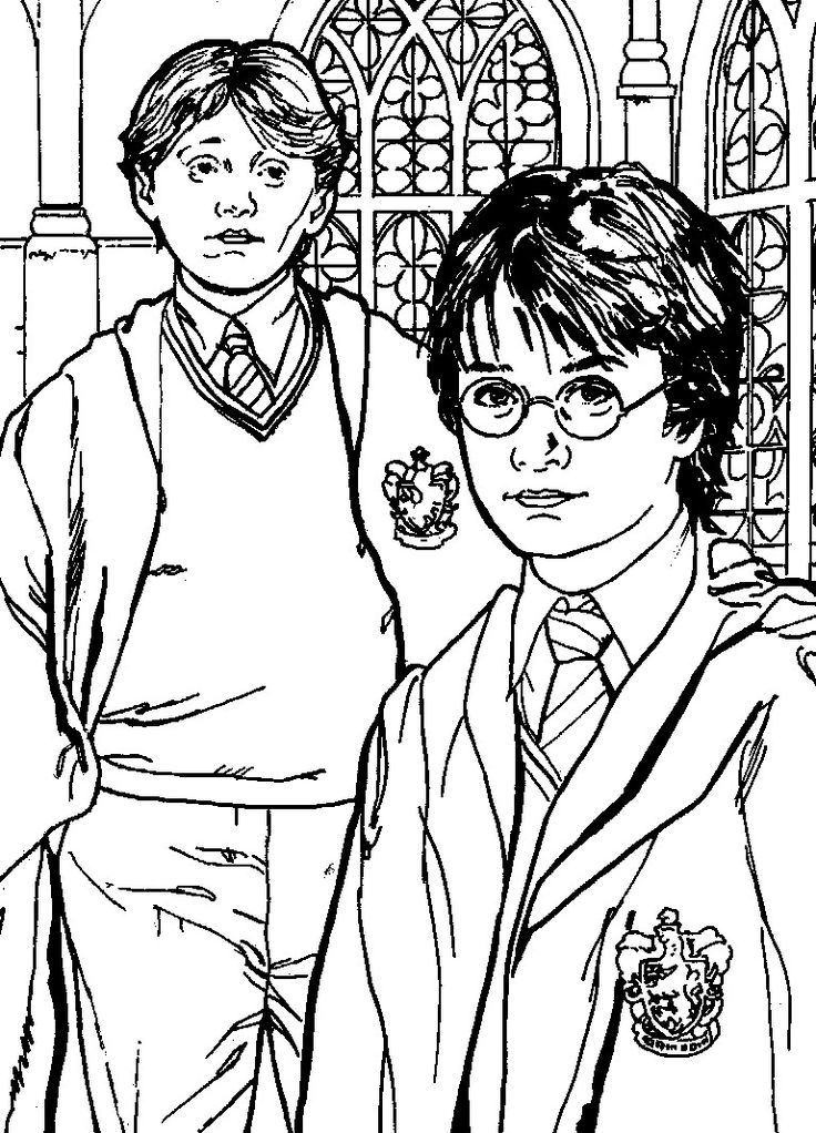 Harry Potter Coloring Pages Beautiful Free Coloring Pages Harry Potter And Ron Weasley หน าส เร ยนภาษาอ งกฤษ