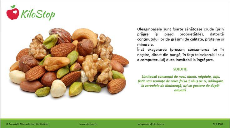 Ca să nu te #îngrași, limitează consumul de #nuci, #alune, #migdale, #caju, #fistic sau alte #semințe la 1 căuş/zi.