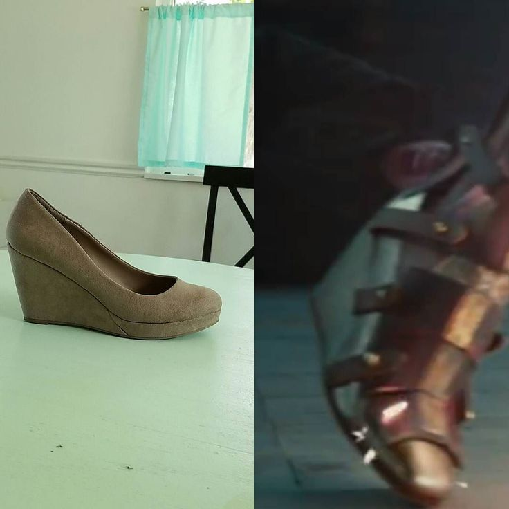 This person found the perfect pair of shoes for the base of building up Wonder Woman's shin guard boots!