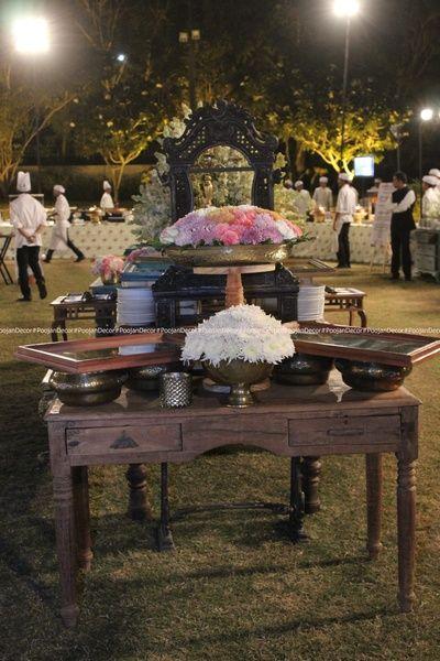 Elegant Roses and tuberoses Reception set up