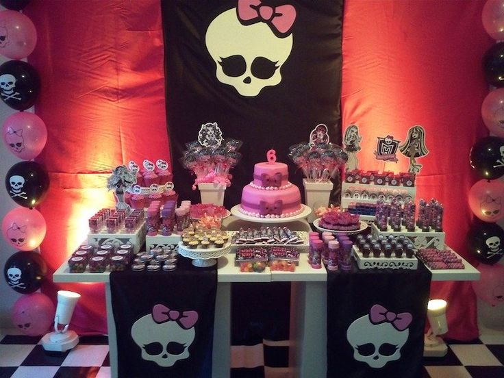 Festa Monster High, preto e rosa
