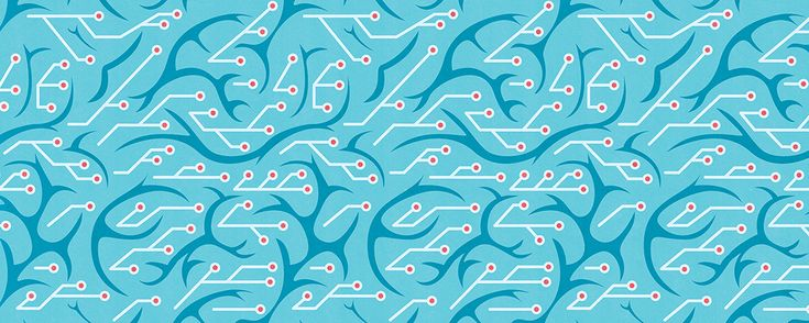 Kotryna Zukauskaite Canadian Institute For Advanced Research (CIFAR) Decorative Web Banners for Research Programs Artificial Intelligence #illustration #brain #research #pattern #network #science