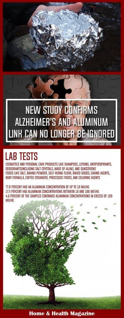 a recent study conducted at the Keele University in the UK unequivocally proved that the increased aluminum levels in the brain of an individual exposed to aluminum at work led to his death from Alzheimer's disease.