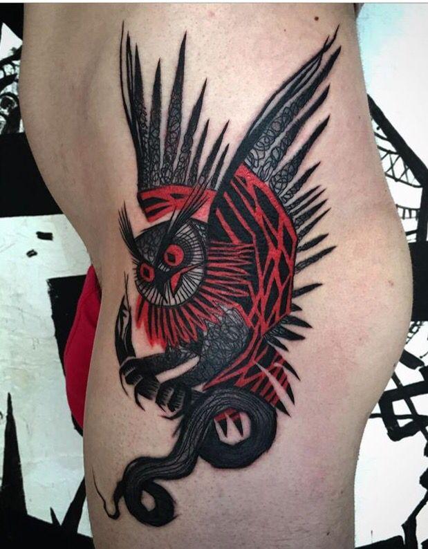 Tayri Rodriguez owl tattoo
