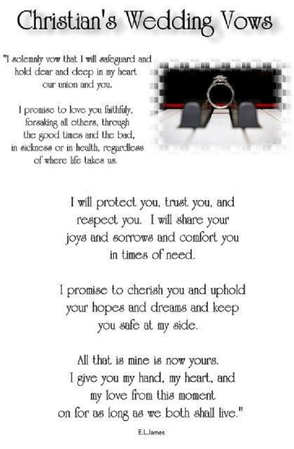 Christian Grey's wedding vows from the third book of the trilogy, Fifty Shades Freed.