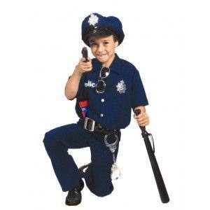 Déguisement policier enfant, Déguisement policier enfant avec casquette police et insignes de police