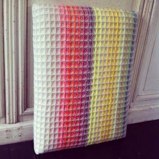 Ilse Acke  waffle weave in stripes, blanket or towels??
