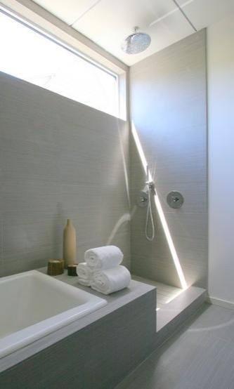 Bathroom 1 #Daltile Fabrique color Gris Linen
