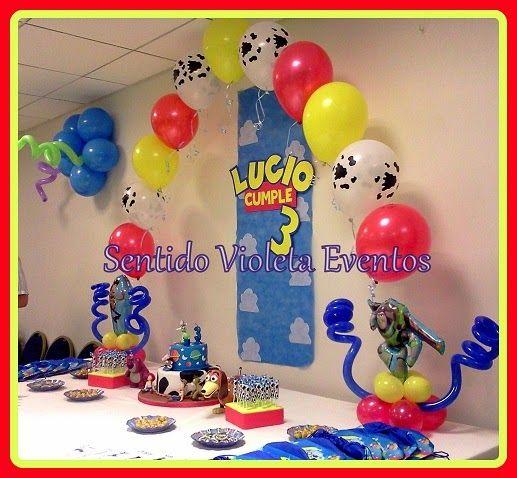centros de mesa toy story con globo de helio - Buscar con Google