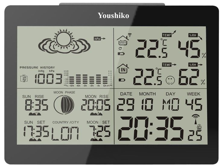 weather station with msf radio #control clock ( new #improved / uk #version ) ,  View more on the LINK: 	http://www.zeppy.io/product/gb/2/252649790690/