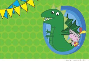 Convite George Pig Grátis! Prontos para editar e imprimir no www.fazendo-festa.net