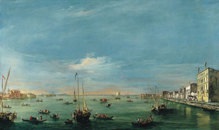 View of the Giudecca Canal and the Zattere, 1757 - 1758 - Francesco Guardi
